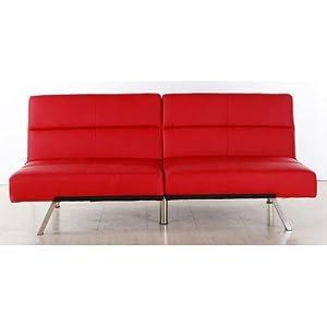 Kaufen 3er Sofa Couch Schlafsofa Darwin Rot Sofas Test