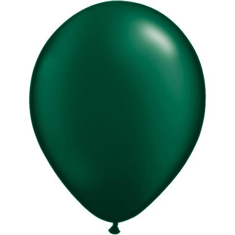 "(100) Pearl Forest Green 5"" Latex Balloon Qualatex"