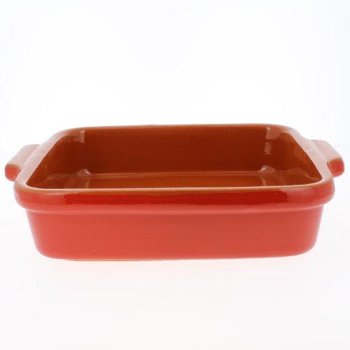 Coli Bakeware Cl08-Rd--C28 Italian Ceramic Square Side Dish Baker, 1-Quart, Red