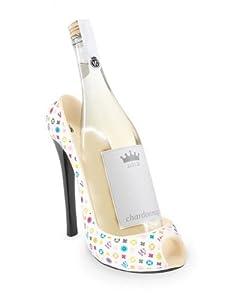 "9"" Fashion Avenue Monogram Women's Decorative High Heel Shoe Wine Bottle Opener by Fashion Avenue"