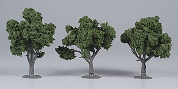 "Dark Green Ready Made Trees 3""- 4"" Woodland Scenics"