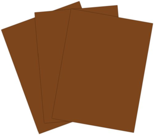 Roselle Vibrant Construction Paper, 50 count, 9 x12 Inches, Dark Brown (CON2191250) - 1