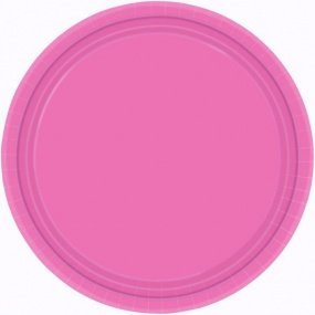 Bright Pink Plates (S) 24 Ct [2 Retail Unit(s) Pack] - 64015.103