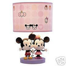 Disney Mickey And Minnie Mouse Cuties Lamp Bedside Lamps