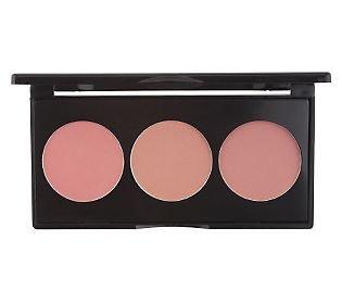 Smashbox Close Up Blush Palette - coral rose peach 3 colors shades