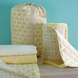 Magnolia Organics Crib Sheet Set Lemon Drop Elephant)