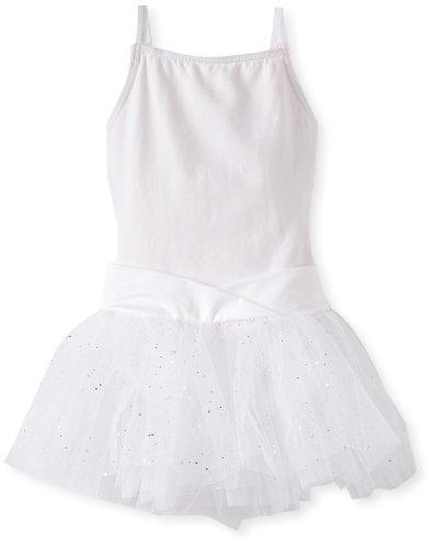 Capezio Little Girls' Camisole Tutu Dress, White, S (4-6) front-802054