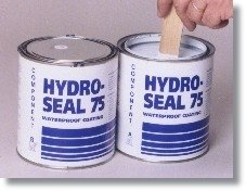 Hydro-Seal 75 Waterpoofing Epoxy 1 Gallon Kit - Resists over 40 psi, no VOC, Odor Free, Water-based Epoxy. Just mix & apply like paint to basement walls & floors. (Hydro Seal compare prices)