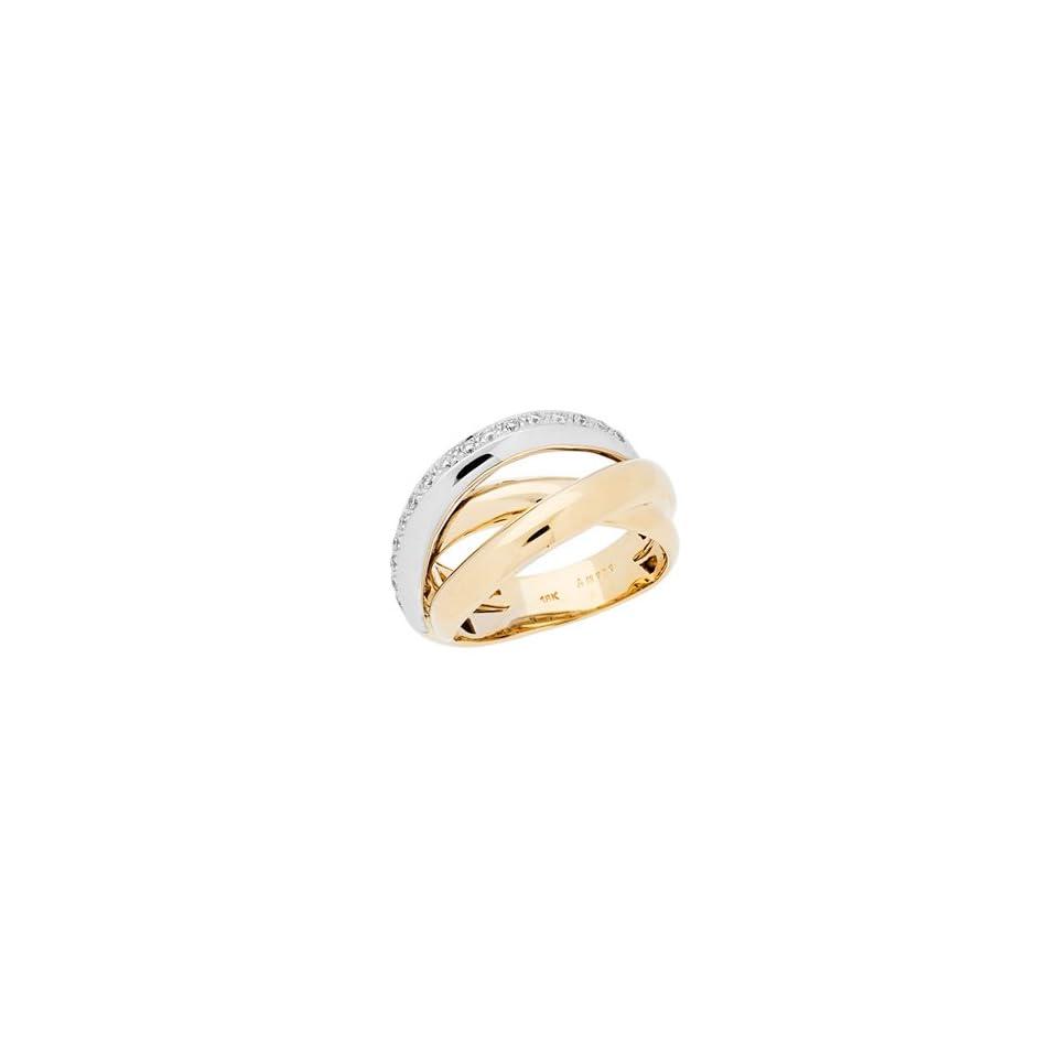 0.16 Carat 18kt Two Tone Gold Diamond Ring