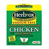 Herb-Ox Bouillon Packets Chicken Instant Broth & Seasoning Sodium Free 8 count 1.2 oz Box (Gluten Free)