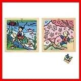 AS410 日本の昔ばなし木のジグソーパズル(浦島太郎・花咲じいさん)