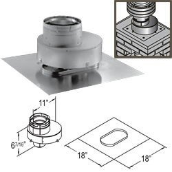 Dura-Vent Direct Vent Fireplace 6 Inch Chimney Liner Termination Kit - Includes Term. Connector, Flashing