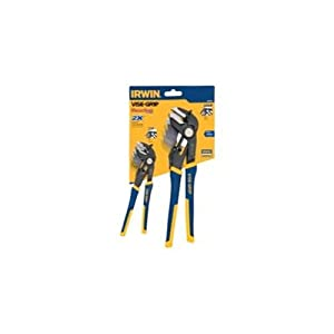 IRWIN Tools VISE-GRIP GrooveLock 2-Piece Pliers Set, 6-Inch V-Jaw and 10-Inch Straight Jaw (1802534)