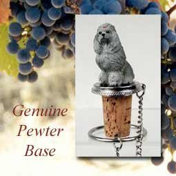 Gray Poodle Wine Bottle Stopper from Conversation Concepts DTB01B by Conversation Concepts