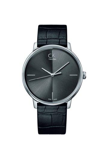 Calvin Klein K2Y2X1C3 - Reloj de pulsera hombre, piel, color negro