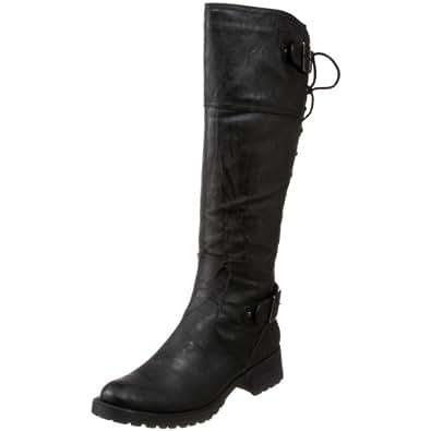 Wanted Shoes Women's Ballard Knee-High Boot,Black,5.5 M US
