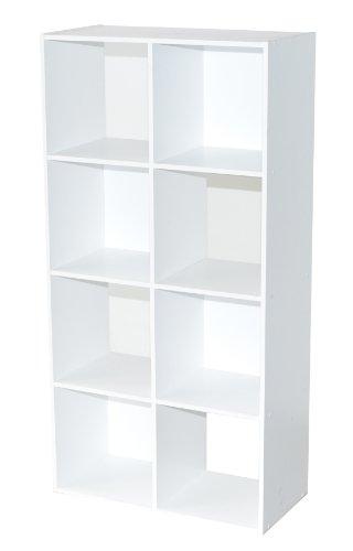 Alsapan - 94437 - Compo - Etagère de 8 Casiers - Blanc - 61,5 x 29,5 x 121 cm