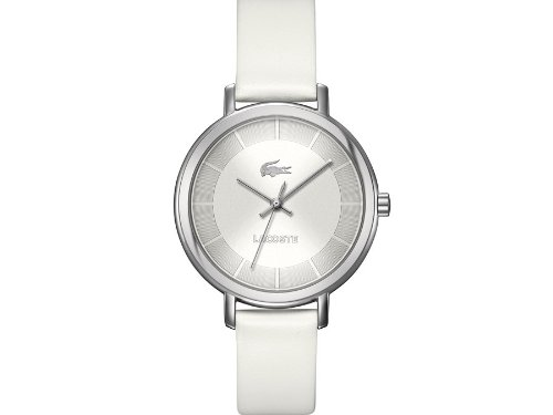 Lacoste Women's White 'Nice' Leather Watch - 2000716