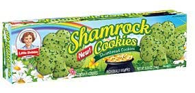 Little Debbie St. Patrick's Day Shamrock Iced Shortbread Cookies