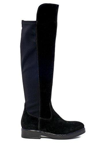 Cafè Noir PFA536010370 I15.010 NERO 37 stivale sopra il ginocchio in crosta con dietro in lycra
