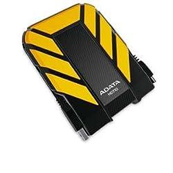 ADATA Dash Drive Durable HD710 Portable External Hard Drive, Yellow, 1TB