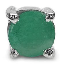 Schmuck-Schmidt-HerrenohrringOhrstecker-Smaragd-925-Silber-025Karat