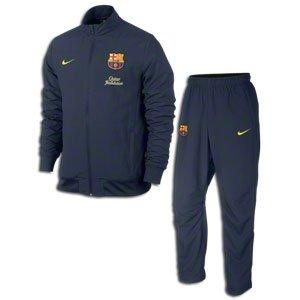 2013-14 Barcelona Nike Woven Sideline Tracksuit (Navy)
