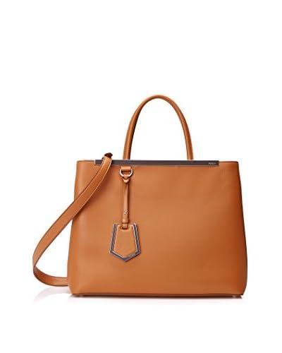FENDI Women's 2Jours Handbag, Barley/Turquoise
