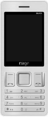 Rage Slick Dual SIM with Camera FM Bluetooth MP3 Player (Silver)