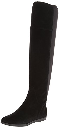 Nine West Women'S Timeflyes Suede Riding Boot,Black/Black,7.5 M Us