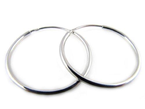Amberta Orecchini argento 925 a cerchio, diametro 20mm