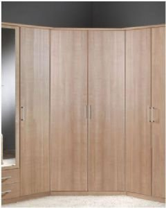 Venice Oak Effect 2 Door Corner Wardrobe