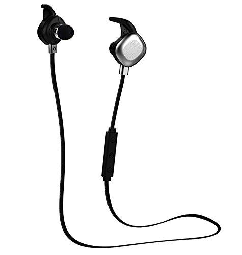 (JnB) Bluetooth 4.1ヘッドセット スポーツ仕様 イヤホン JnB J1 超軽量ヘッドセット 防汗 Hi-Fi ワイヤレスステレオ 騒音抑え機能(NFC, CSR APT-X, CVC6.0とIPX7 防水レベル) 磁気デザイン ブルートゥース イヤホン iPhone&Android スマートフォンに対応 内蔵式マイク  J1-B1(ブラック)