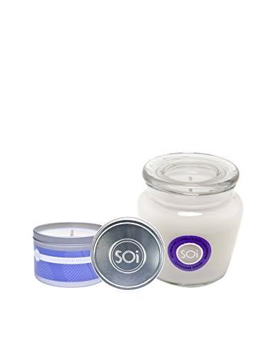 The Soi Co. Moisturizing 16-Oz. Keepsake & 8-Oz. Travel Candles, Lavender Fields