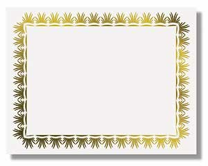Certificate Border Laurels Gold Foil - 50 per box - CT1151 160gsm ...