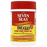 Seven Seas Pure Cod Liver Oil Plus Evening Primrose Oil One-A-Day 90 capsules