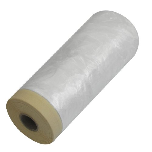 Clear Plastic Protecting Masking Film Cover Roll 7.6