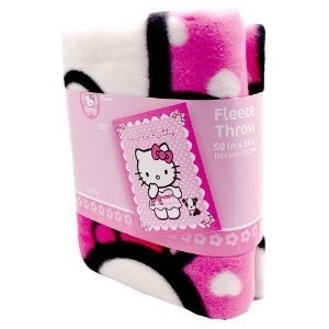 Sanrio Hello Kitty Dark Pink/Light Pink Blanket