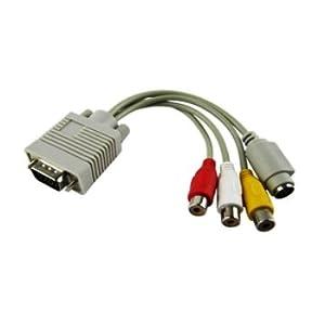 アナログVGA信号 to S端子AV変換ケーブル
