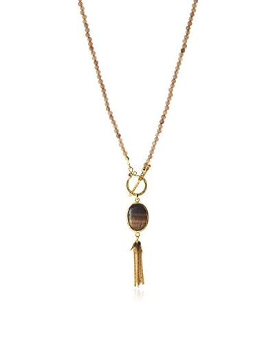 Jardin Agate and Tiger Eye Toggle Necklace