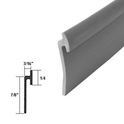 "Find Cheap Angled Gray Vinyl Framed Shower Door Drip Rail - 36"" long"