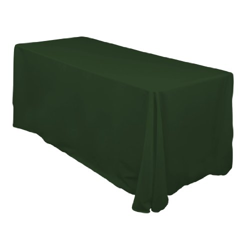 90 x 132 Inch Polyester Tablecloth Hunter Green