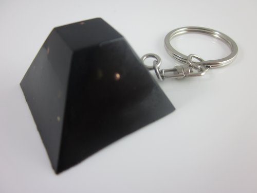 Orgone Towerbuster Pyramid Keychain, Emf Protection, Black Sun