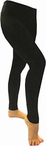 Hard Tail Flat Waist Full Length Leggings - Black (S, Black)