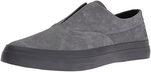 HUF Men's Dylan Slip on Skateboarding Shoe, Steel/Asphalt, 11 M US