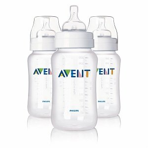 Avent Feeding Bottle with Variable Flow Nipple, 11oz 3 Ct (Quantity of 2)