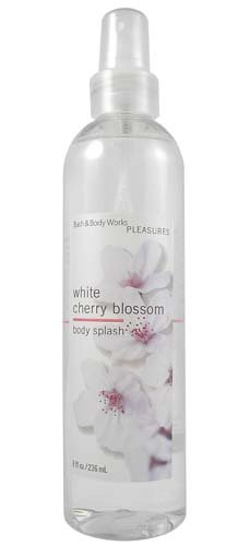 Bath & Body Works Pleasures White Cherry Blossom Splash 8 oz (White Cherry Blossom Body Spray compare prices)
