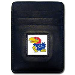 NCAA Kansas Jayhawks Leather Money Clip/Cardholder