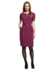 M&S Collection Zipped Shift Dress with Belt
