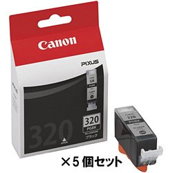【クリックで詳細表示】【キヤノン純正インク】インクタンク ブラック BCI-320PGBK(5個セット) BCI-320PGBKX5